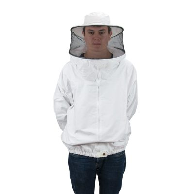 Brusón blanco doble T XL, Brusó blanc doble T XL, Blouson blanc double T XL, Beekeeper suit white size XL..´´