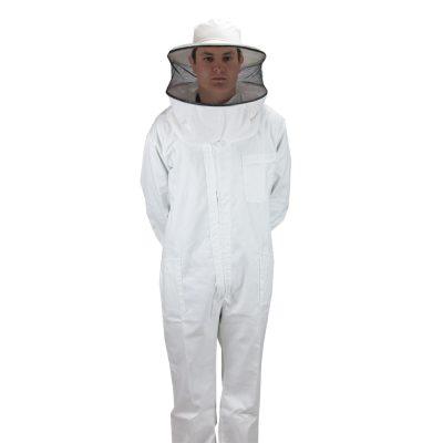Buzo con careta desmontable blanco Bluson avec masque amovible Smoc with removable mask.