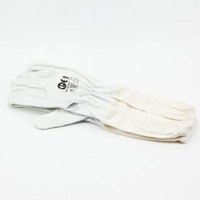 Guantes piel puño largo Guans pell puny llarg Gants blancs poign longue White gloves long fist