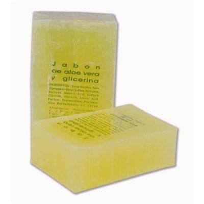 Jabón aloe vera y glicerina 125gr, Sabó aloe vera i glicerina, Savon avec aloe vera et glycérine,125gr Aloe vera and glycerin soap 125gr