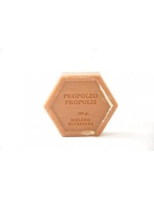 Jabón exagonal con propóleos, Sabó exagonal amb pròpolis ,Savon hexagonale avec propolis, Hexagonal soap with propolis