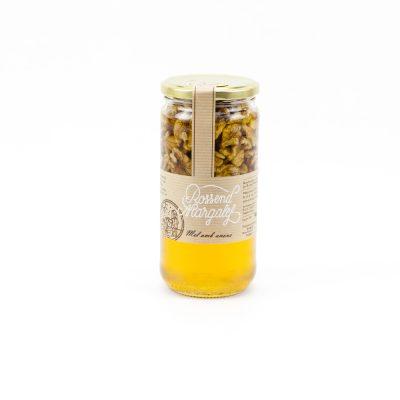 Miel con nueces, Mel amb anous, Miel avec nois, Honey with nuts