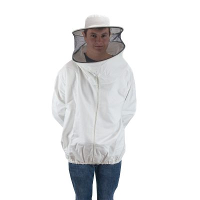 Brusón blanco doble T XL, Brusó blanc doble T XL, Blouson blanc double T XL, Beekeeper suit white size XL..